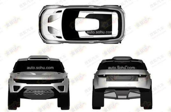 Rally-spec Range Rover Evoque patent photo (3)