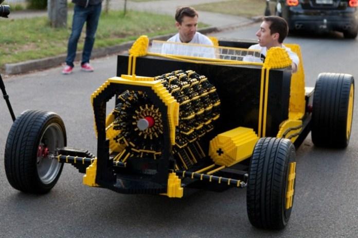 Fullsize car made from Lego