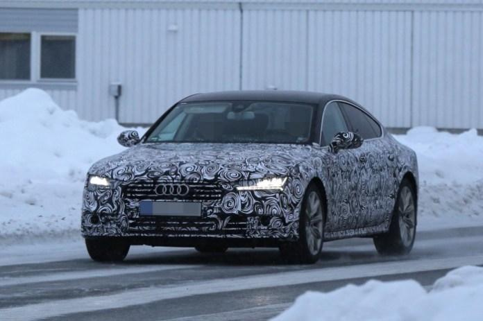 Audi A7 Sportback facelift 2015 spy photos (1)