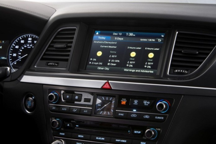 Blue Link system in the 2015 Hyundai Genesis (1)