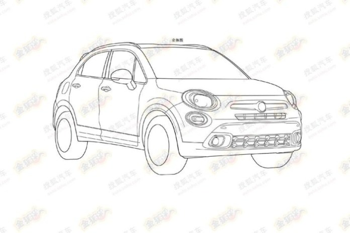 Fiat 500X leaked patent sketch 2