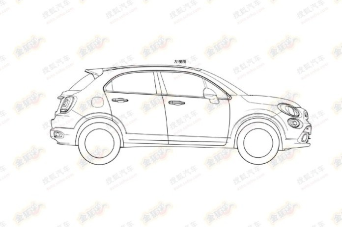 Fiat-500X-patent-side-view