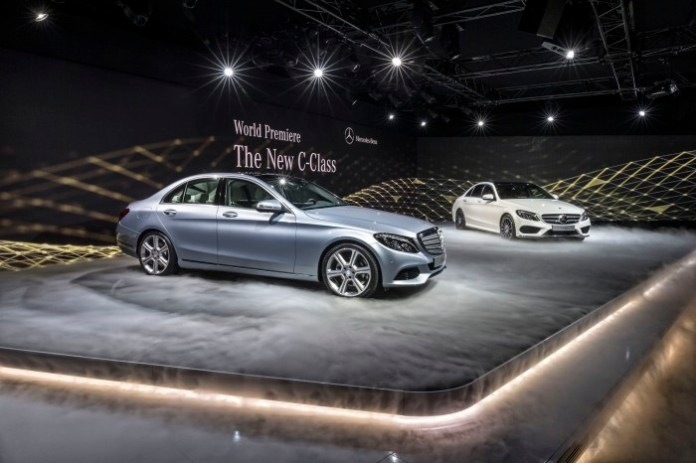 Mercedes Benz C-Class 2015 Live Photos from Detroit 2014 (20)