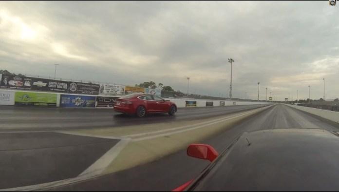 Model S vs Corvette Stingray