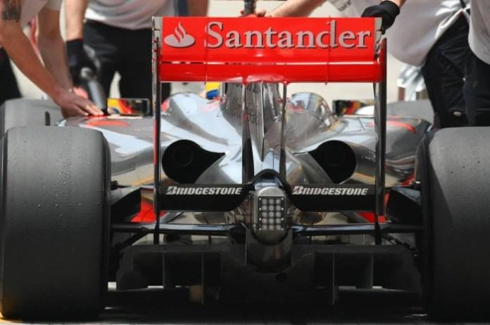 mclaren 2009-santander sponshorship