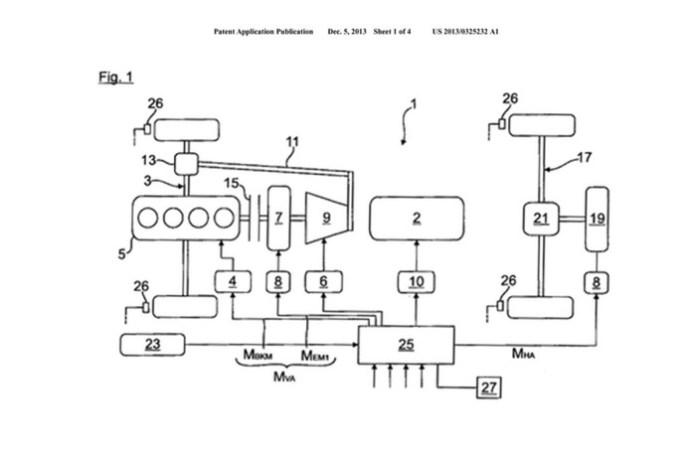 Audi e-quattro patent