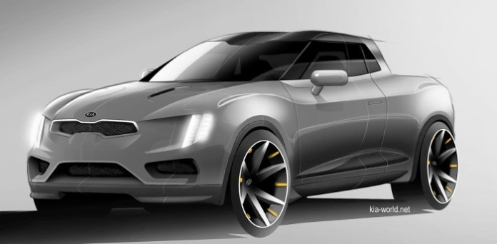 Kia small pick-up truck concept render