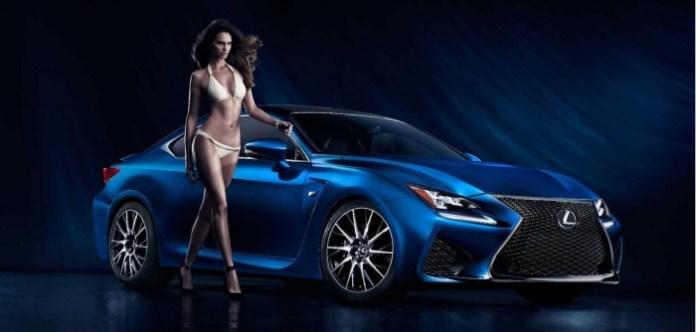 Lexus RC F and swimsuit model Netasha Bernard