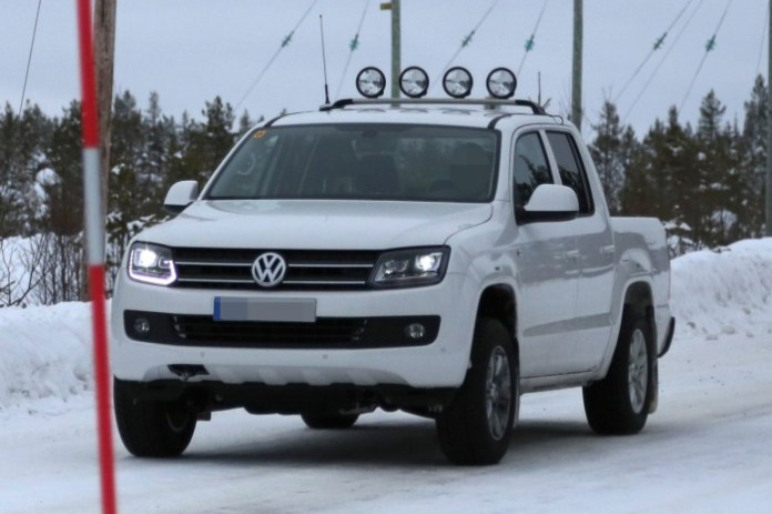 Volkswagen Amarok facelift 2014 spy photos (1)