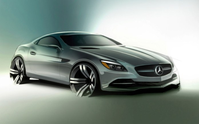 Design-sketch-story-of-Mercedes-Benz-SLK-design
