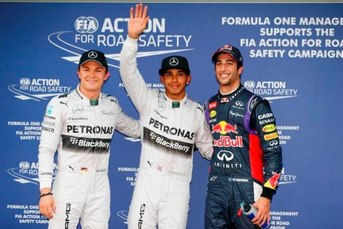 Hamilton-Ricciardo-Rosberg