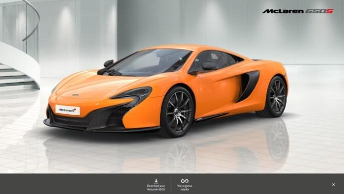 McLaren 650S config