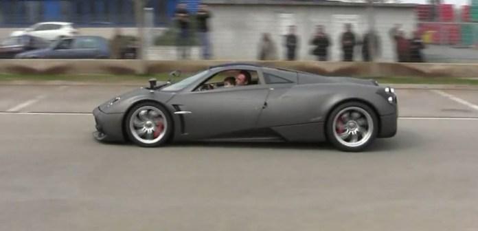 Pagani Test Driver takes his son for a joy ride