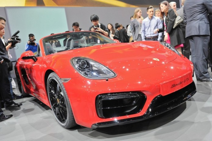 Porsche Boxster GTS and Cayman GTS live in Beijing 2014