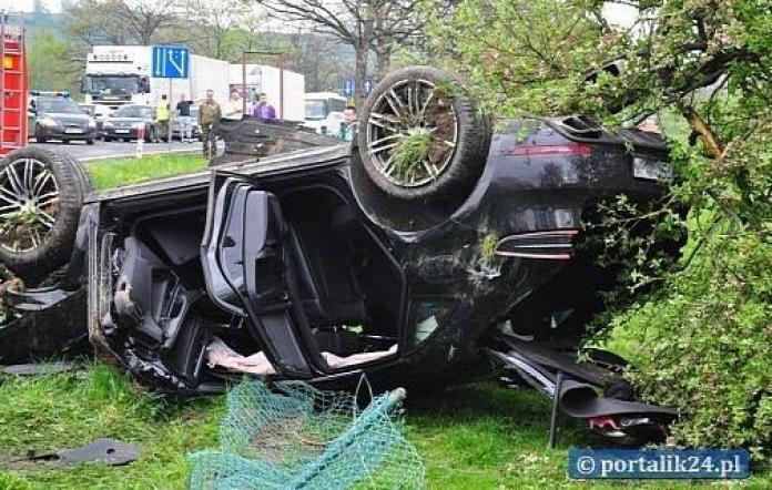 Porsche Macan crash in Poland