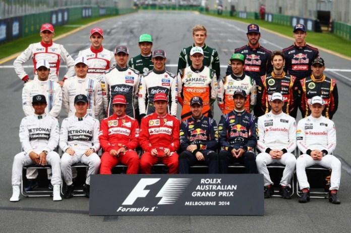 2014 F1 Drivers Photo