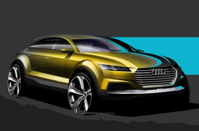 Audi Q4 Concept design sketches