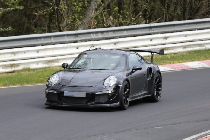 Porsche 911 GT3 RS 2015 Spy Photos on Nurburgring
