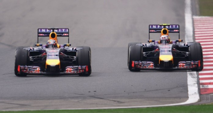 during the Chinese Formula One Grand Prix at the Shanghai International Circuit on April 20, 2014 in Shanghai, China.