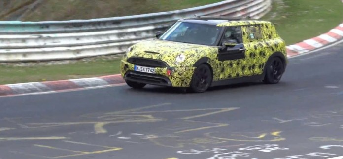 new Mini Clubman Cooper S F54 prototype at Nurburgring