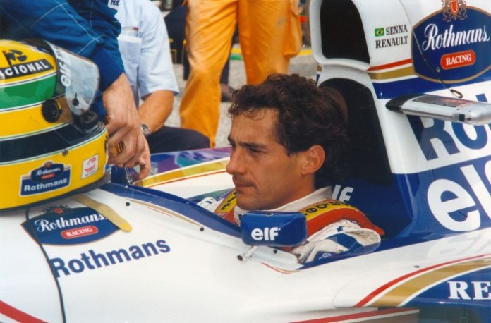 Ayrton Senna at the GP di San Marino in Imola, Italy in 1994.