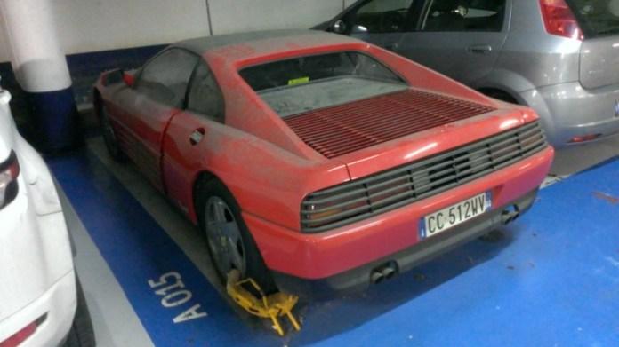 Abandoned Ferrari 348 in Bolonia