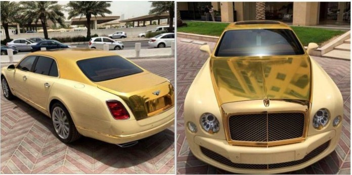 Gold Bentley Mulsanne (1)