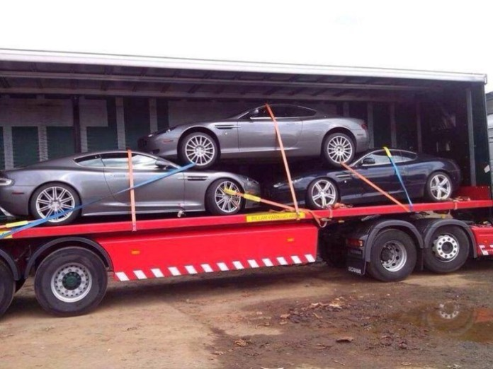 aston marrtin trailer in polland