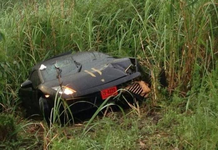 Lamborghini Gallardo crash in Thailand (2)