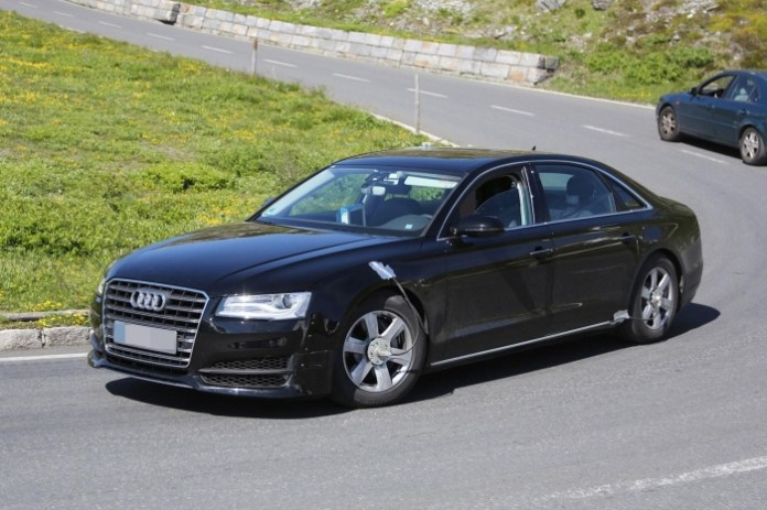 Audi A8 2016 test mule spy photos (4)