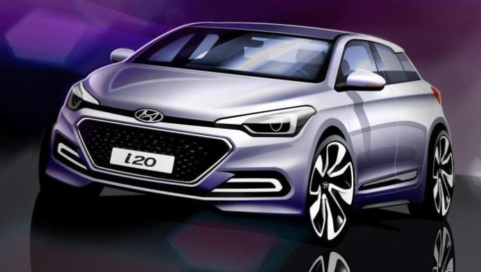 2015 Hyundai i20 teaser design sketch (1)