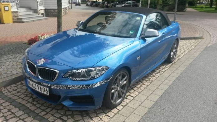 BMW M235i Convertible Spy Photos