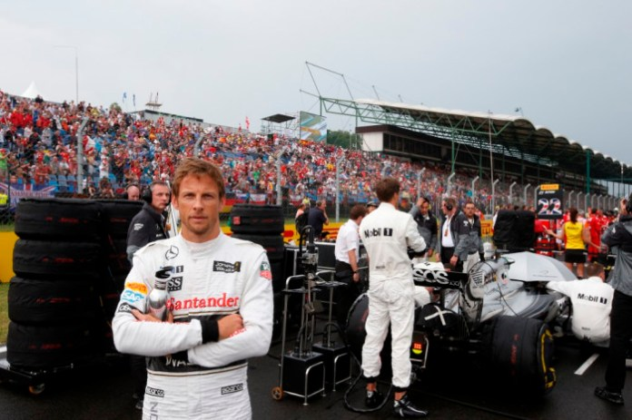 Jenson Button on the grid.