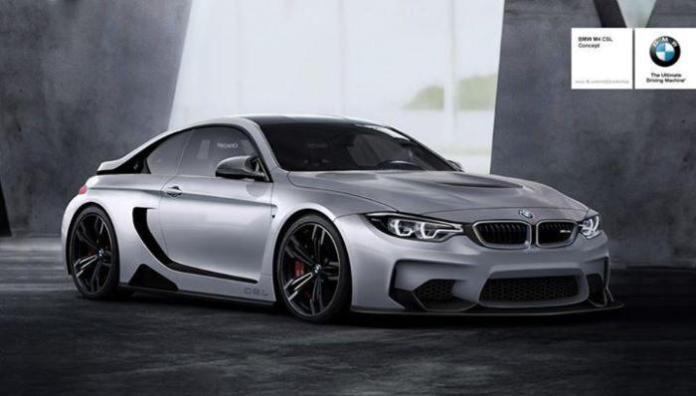 BMW M4 CSL rendering