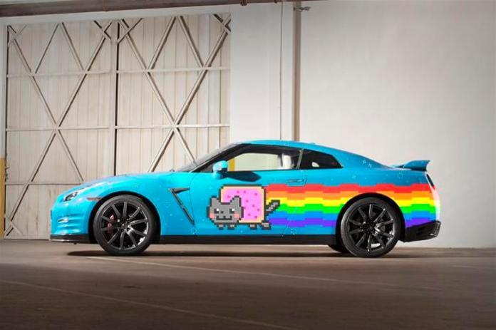 Nyan Cat Nissan GT-R