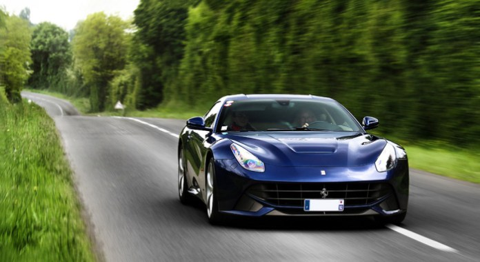 ferrari f12Berlinetta blue