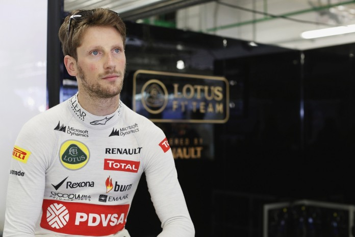 Sochi Autodrom, Sochi, Russia.Sunday 12 October 2014.Romain Grosjean, Lotus F1.Photo: Alastair Staley/Lotus F1 Team.ref: Digital Image _R6T4380