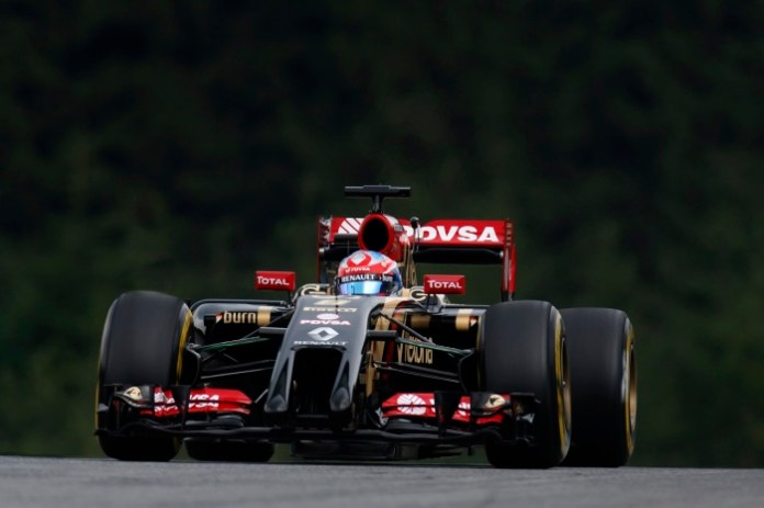 Red Bull Ring, Spielberg, Austria. Friday 20 June 2014. Romain Grosjean, Lotus E22 Renault. World Copyright: Alastair Staley/LAT Photographic. ref: Digital Image _79P2569