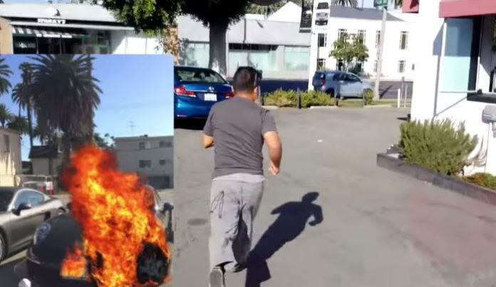 Car Fire Prank