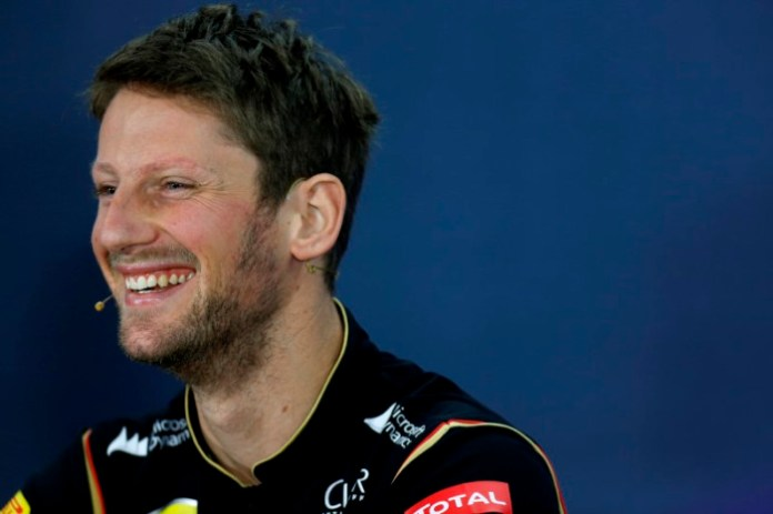 Circuit of the Americas, Austin, Texas, United States of America. Thursday 30 October 2014. Romain Grosjean, Lotus F1, in the Drivers Press Conference. World Copyright: Alastair Staley/LAT Photographic. ref: Digital Image _R6T7520