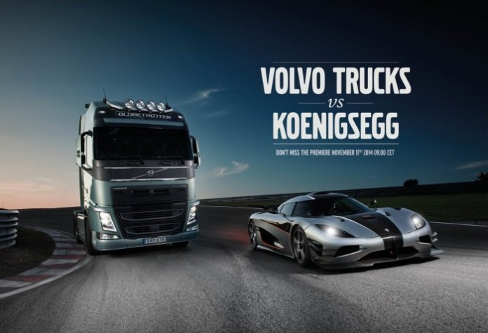 Volvo Trucks vs Koenigsegg One1 (1)