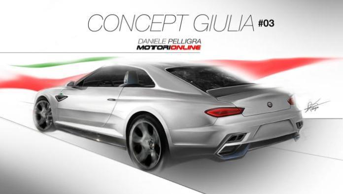 2015 Alfa Romeo midsize sedan-Giulia render 2