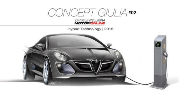 2015 Alfa Romeo midsize sedan-Giulia render 3