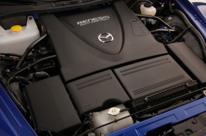 Mazda RX8 Blue Engine