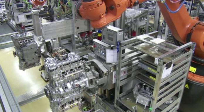 Porsche 911 Engine Plant Assembly Line