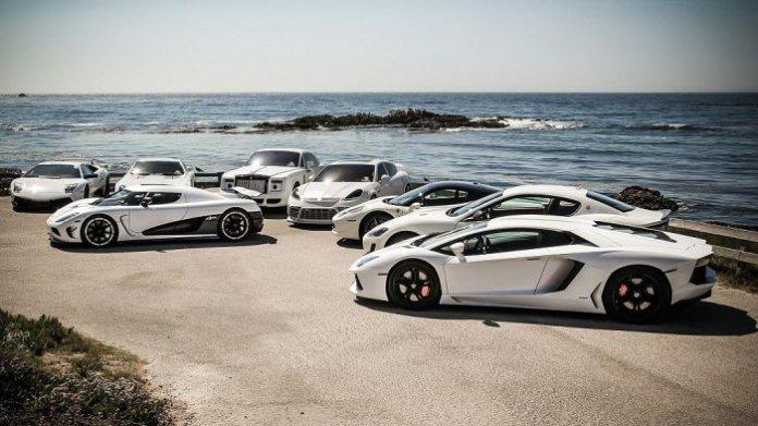 white supercars