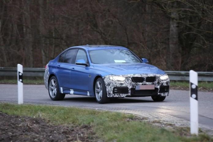 BMW 3-Series facelift 2015 Spy Photos (1)