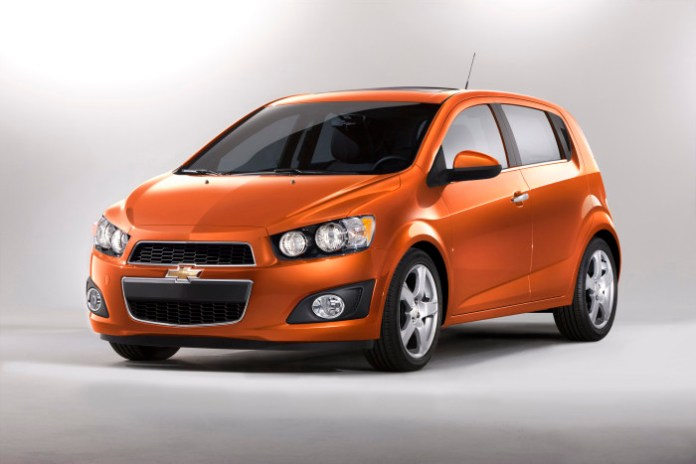 The 2012 Chevrolet Sonic hatchback was shown at North American I
