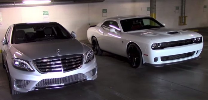 Dodge Challenger SRT Hellcat and Mercedes-Benz S65 AMG