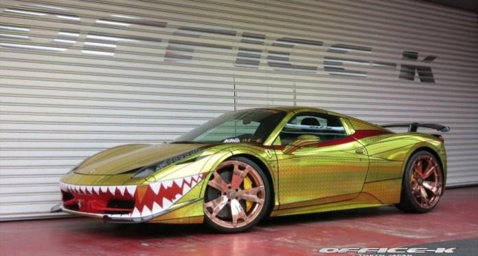 Ferrari 458 Spider Golden Shark by Office-K (3)